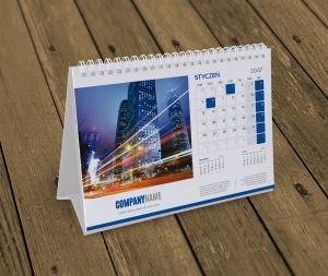 spiralowane kalendarze biurkowe poziome A5
