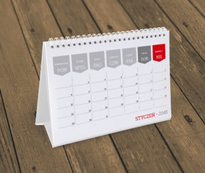 kalendarz na biurko KB10-W16