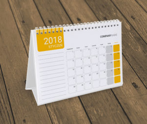 kalendarz na biurko KB10-W17
