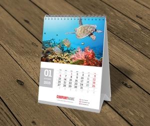 spiralowane kalendarze biurkowe pionowe A5