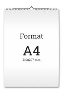 kalendarz ścienny 12 kartkowy A4
